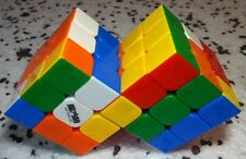 Stickerless Conjoined Siamese Rubik's cubes
