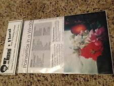 BOB ROSS FLORAL How To Painting Packet 'Poinsettias in a Window' w/ Pattern