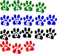 Nome PET Paw Print Adesivo Vinile Wall Art Kennel GATTO / dog!buy 2 Get 1 gratis!
