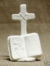 Ceramic Bisque Jesus Loves Me Cross Kimple Mold 3037 U-Paint Ready To Paint