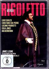 DVD VERDI RIGOLETTO Luciano Pavarotti Louis Quilico Christiane Eda-Pierre LEVINE