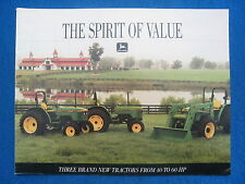 1991 John Deere Tractor Dealer Brochure 40 60 HP 5200 5300 5400 Spirit of Value