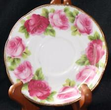 "Vintage ROYAL ALBERT Bone China England OLD ENGLISH ROSE 5 1/2"" 2 Saucers"
