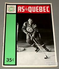 1963-64 AHL Quebec Aces Program Don Blackburn Cover