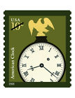 USPS New 10-cent American Clock Self-Adhesive Stamp Sheet of 20