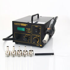 GAOYUE-850+ SMD ESD Electric Rework Desolder Soldering Station Hot Air Gun 110V