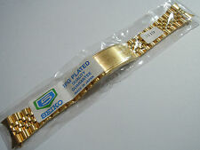 NEW 20MM SEIKO JUBILEE GOLD PLATED BRACELET WITH CURVE END FOR ALL SEIKO WATCH