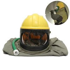 Safe Sandblast Helmet Sand Cloak Sand Len+Blast Hood Protector For Sandblasting