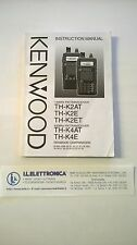MANUALE IN SPAGNOLO istruzioni d'uso per KENWOOD TH-K2AT
