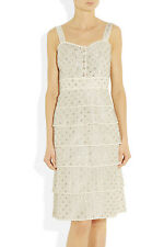 BNWT New sz 8 Tory Burch Audrey Embroidered Silk organza Dress, $595
