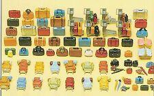 Luggage 90 unpainted Pieces Preiser HO Gauge  1:87