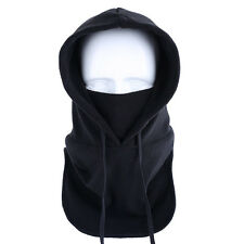 Outdoor Winter Fleece Warm Windproof Balaclava Hood Full Face Mask Hat Cap Black
