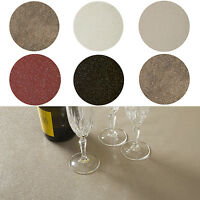 Glitter Glittery Sparkle Round PVC WIPE CLEAN OILCLOTH Tablecloth 100cm to 140cm