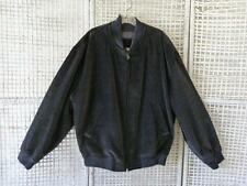 Ermenegildo Zegna~Italy Made~Navy-Black Velvet Velour Zip Bomber Jacket~IT 52~42