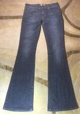 USED / JEANS SZ 26 Jeans Paty Cotton Blend Flare Dark Wash