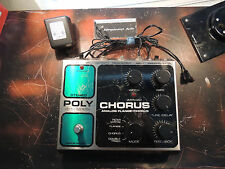 ELECTRO HARMONIX POLYCHORUS EFFECTS PEDAL w/ADAPTER FLANGER CHORUS FILTER MATRIX
