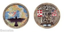 "THULE AIR FORCE BASE WISDOM  RAVENS MEMORY GREENLAND 1.75"" CHALLENGE COIN"