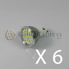 6 x Bulb 24 LED SMD 5050 GU10 White Cold 220V Low Consumption! Equiv. 50W pure