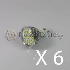 6 x Bombilla 24 LED SMD 5050 GU10 Blanco Frio 220V Bajo Consumo! Equiv. 50W puro