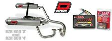 Polaris RZR 800 S 4 DMC Dual Twin exhaust & DMC EFI controller PRE MAPPED 09-14