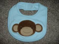 Gymboree Boys Brand New Baby Blue Monkey Bib 0-3 3-6 6-12 months Safari Infant