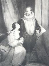 Duc de Guise Duchesse Noirmoutier LITHOGRAPHIE Deveria Desmaisons GRAVURE XIX