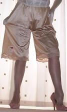 Vintage style gold soft nylon lace pantie slip~pettipants~culottes 20~22 No vpl