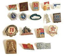 USSR Soviet Russian 17x Metal Pin Badge Set - Sport WW2 Victory City Monuments