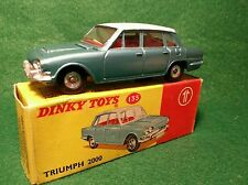 All Original Dinky 135 Triumph 2000, Blue-Green Red Interior, BOXED WITH LUGGAGE
