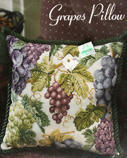 Grapes Pillow Complete KIT Counted Cross Stitch Donna Vermillion Giampa Sealed