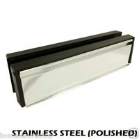 UPVC DOOR LETTERBOX LETTER PLATE ANTI SNAP STAINLESS STEEL (POLISHED)