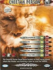 DR WHO ULTIMATE MONSTERS CARD 654 CHEETAH PERSON