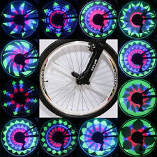 YQ8001 LED RGB Waterproof Bike Color Changing Wheel Light for Night Riding #XD