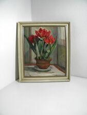Emil HIMMELSBACH (1881-1967) -schönes altes Gemälde - Stillleben - Tulpen Blumen
