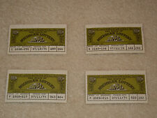 VINTAGE LOT OF 4 1974 $.5O CENT MICHIGAN LOTTERY TICKETS