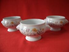 3 X SELTMANN WEIDEN BAVARIA W.GERMANY~JASMIN~POPPY FLOWERS LIONS HEAD SOUP BOWL