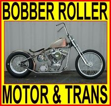 "100"" MOTOR & TRANSMISSION RIGID BOBBER CHOPPER ROLLING CHASSIS COMPLETE BIKE KIT"