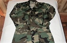 US Surplus Woodland Camo WC BDU Combat Coat 50/50 Extra Small Regular Jacket XSR