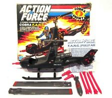 Gi Joe Action Force ☆ COBRA FANG HELICOPTER ☆ Vintage Hasbro BOXED 1985 MINT Toy