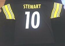 Kordell Stewart Pittsburgh Steelers Logo 7 football jersey men sz L NFL yellow