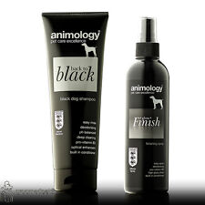 Animology Back To Black champú de perro y acabado brillante de acabado Spray Set