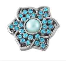 3D Rhinestone Drill Snaps Chunk Charm Button Fit  Leather Bracelets Clothing C3
