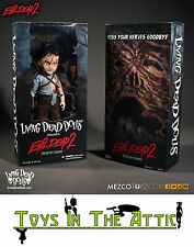 "LIVING DEAD DOLLS EVIL DEAD 2 - 10"" ASH ACTION FIGURE (MEZCO)"