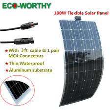 100W PV 18V Semi-Flexible Solar Module Solar Panel Camper RV Yacht Home