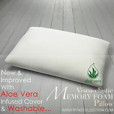 TRADITIONAL SHAPED VISCO ELASTIC MEMORY FOAM PILLOW NECK BACK SUPPORT.