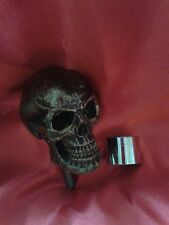 GOTHIC STYLE SKULL(NO-3)/WALKING STICK HANDLE/COLD CAST BRONZE EFFECT