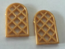 *NEW* 2 Pieces Lego GOLD Window Pane Lattice Diamond 1x2x2 2/3