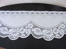 Heritage Lace Valance White Scalloped Edge Floral 94 x 11 inches
