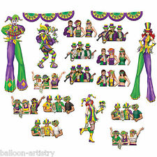 Mardi Gras Carnival Party Scene Setter Add-on Props - REVELLERS & JESTERS