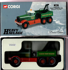 CORGI HEAVY HAULAGE 55603 CADZOW IN BOX WITH CERTIFICATE
